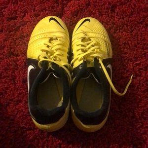 Bright yellow soccer cleats!!